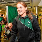 Fiona Coghlan, recently retired captain of the Ireland team, is an inspiration to young girls