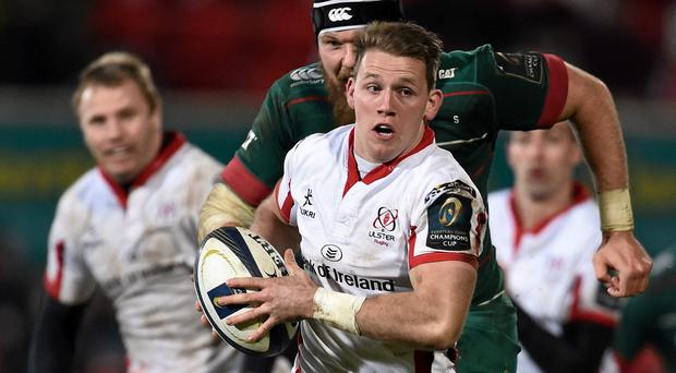 The young Dungannon wing, who lined out for the Wolfhounds last week, will become the youngster player to make 100 appearances for the province at just 23.