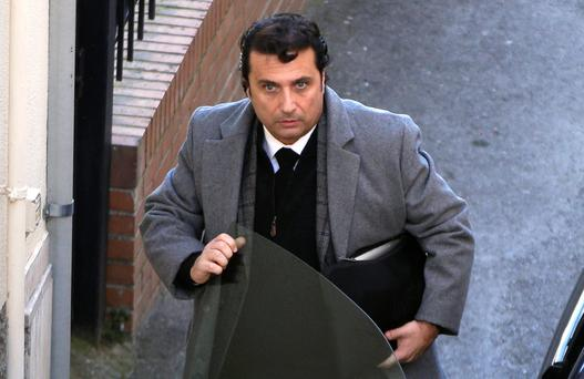 Captain of the Costa Concordia cruise liner Francesco Schettino arrives for his trial in Grosseto. Photo: Reuters