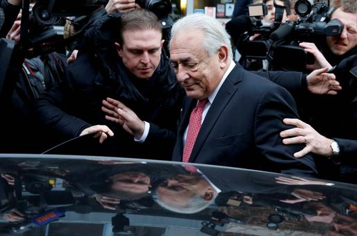 """Dominic Strauss-Kahn, who denies """"pimping"""" charge. Photo: Reuters"""