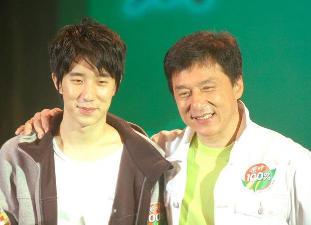 Jackie Chan and his son Jaycee Chan