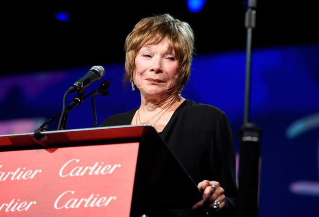 PALM SPRINGS, CA - JANUARY 03: Actress Shirley MacLaine speaks onstage during the 26th Annual Palm Springs International Film Festival Awards Gala at Palm Springs Convention Center on January 3, 2015 in Palm Springs, California. (Photo by Jason Merritt/Getty Images for PSIFF)