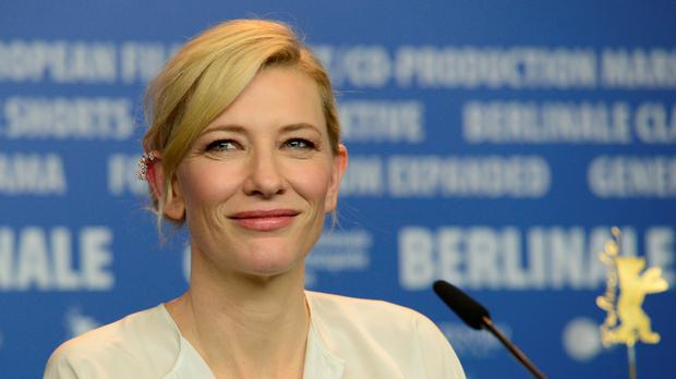 Cate Blanchett attends a press conference for the film