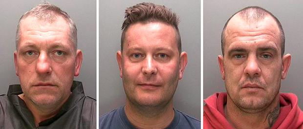 Left to right: Pawel Chudzicki, Michael Armitage and Rafal Segiet who have all been jailed for six years after they were found guilty at Lincoln Crown Court of raping a woman, despite a judge trying to stop their trial because he did not think there was enough evidence for a conviction. Photo: Lincolnshire Police/PA Wire