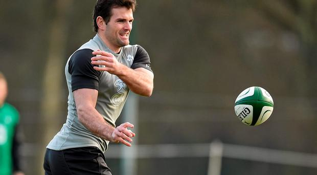 Jared Payne in action during squad training