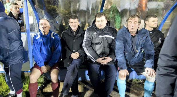 Roy Keane back in the dugout in Cobh last night