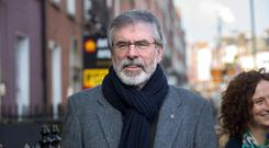 Sinn Fein leader Gerry Adams Photo: Tony Gavin