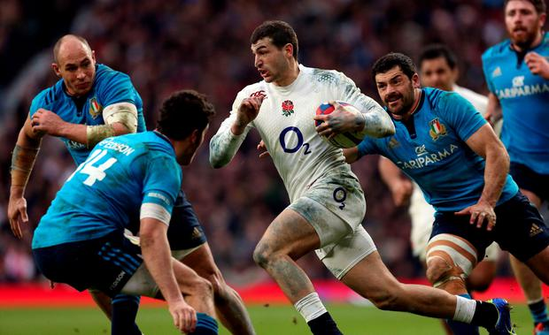 England's Jonny May during the 6 Nations match at Twickenham, London. PRESS ASSOCIATION Photo. Picture date: Saturday February 14, 2015. See PA story RUGBYU England. Photo credit should read: David Davies/PA Wire