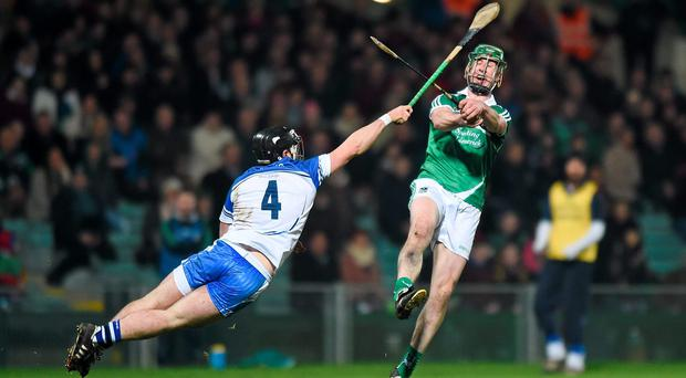 Niall Moran, Limerick, in action against Noel Connors, Waterford