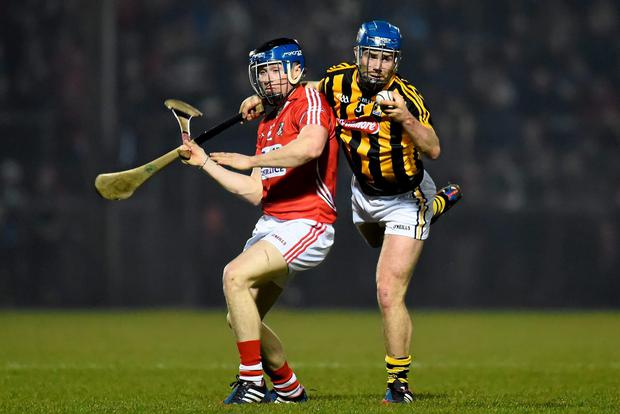 Brian Kennedy, Kilkenny, in action against Conor Lehane, Cork