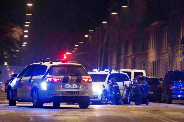 Police personnel and vehicles are seen along a street in central Copenhagen REUTERS/Martin Sylvest/Scanpix Denmark