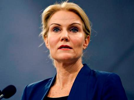 Danish Prime Minister Helle Thorning-Schmidt speaks during a news conference