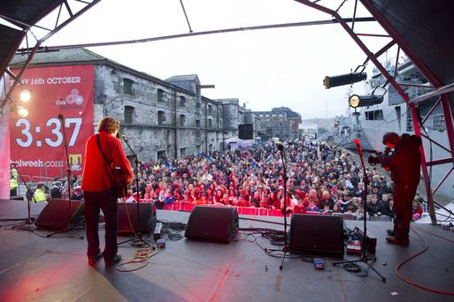 John Spillane on stage during Cork Rebel Week 2013