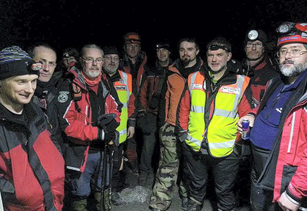 Members of the rescue team.