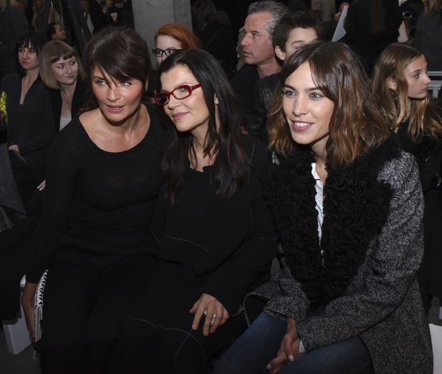 Helena Christensen, Ali Hewson and Alexa Chung attend the Edun show during Mercedes-Benz Fashion Week Fall 2015 at Skylight Modern on February 15, 2015 in New York City.