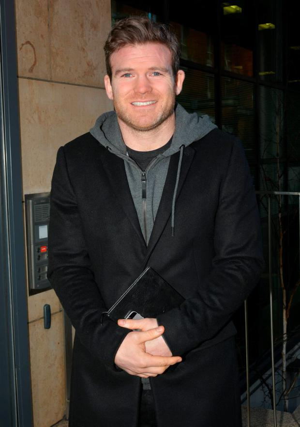 Gordon D'Arcy before appearing on Today FM's Anton Savage Show