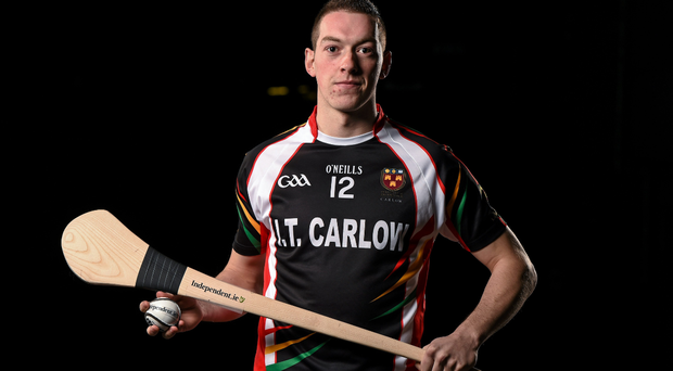 IT Carlow's Stephen Maher at the launch of the Independent.ie Fitzgibbon Cup