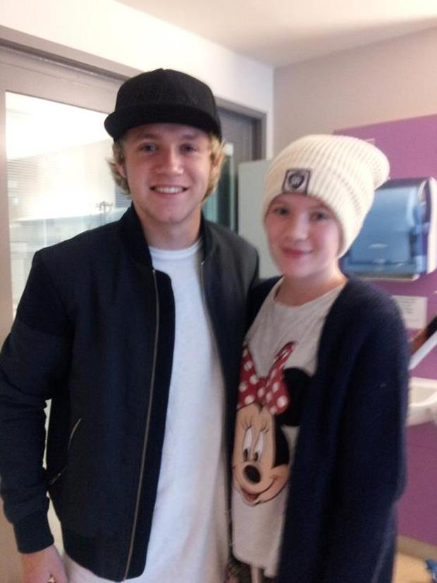 Claire pictured with One Direction's Niall Horan