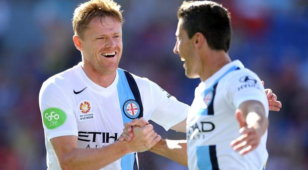 A ruptured tendon in his calf, combined with an ankle injury sustained in the same match, have effectively ended Damien Duff's campaign with Melbourne City. Photo: Ashley Feder/Getty Images