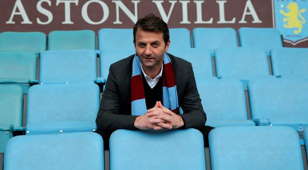 New Aston Villa manager Tim Sherwood poses after the press conference where he was unveiled as the successor to the sacked Paul Lambert. Photo: Action Images via Reuters/Alex Morton