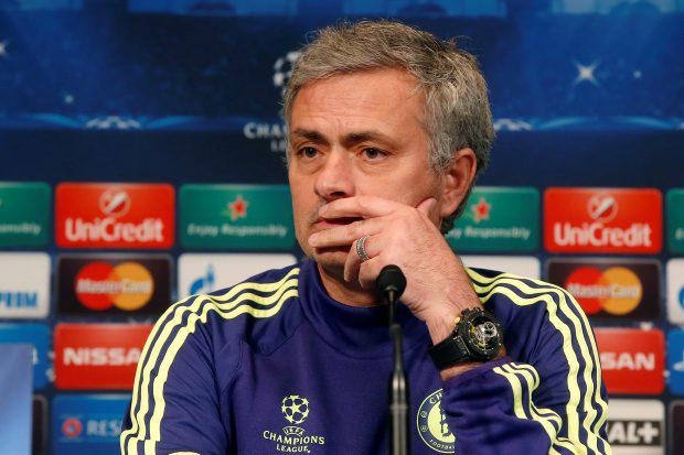 Chelsea FC coach Jose Mourinho speaks during a press conference