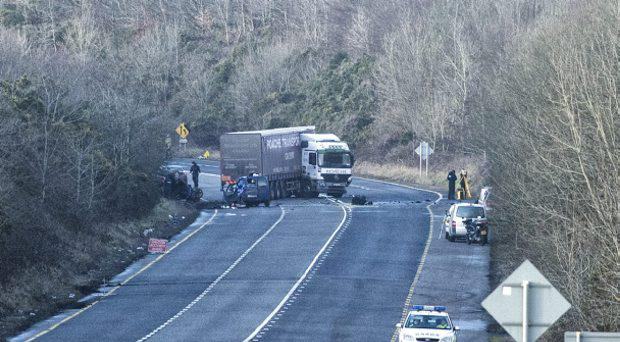 Scene of a serious traffic accident at Rathduff on the Cork-Mallow Road