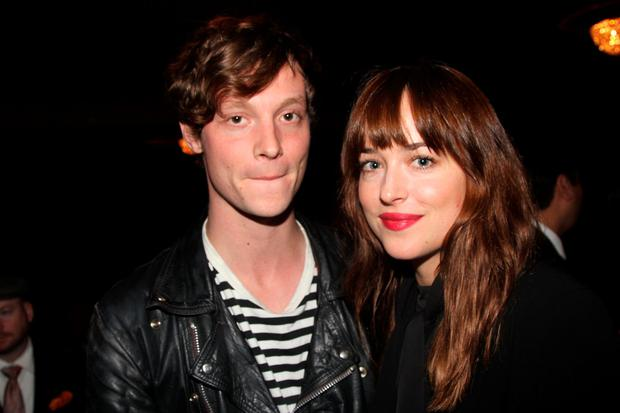 Matthew Hitt and Dakota Johnson in New York in October