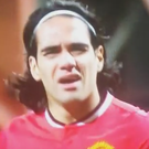 Radamel Falcao looked bemused before being substituted last night