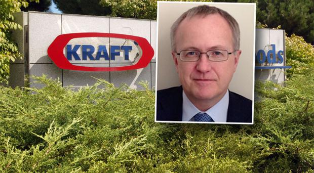 Kraft Foods Group has said it hired James Kehoe as its chief financial officer