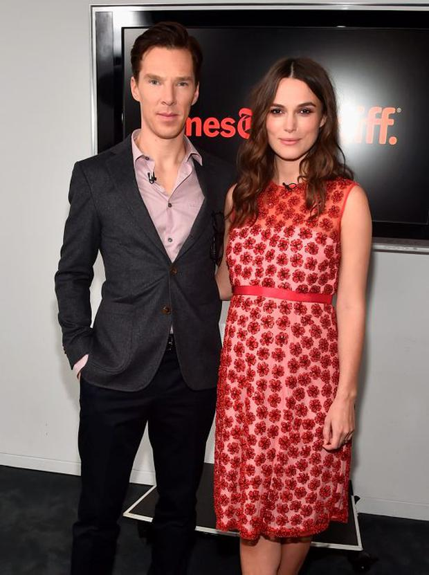 Actors Benedict Cumberbatch and Keira Knightley attend The New York Times' TimesTalk & TIFF In Los Angeles Presents