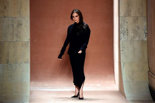 Victoria Beckham showcased her own laid-back fashion style at New York Fashion Week.