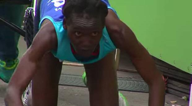 Hyvon Ngetich collapsed after 23 miles while she was leading the race