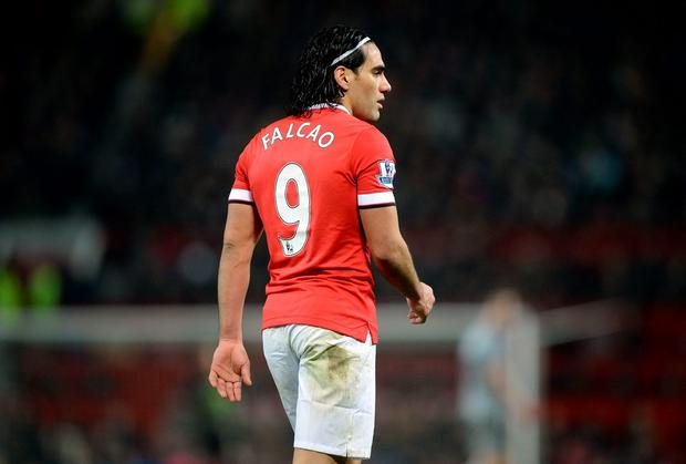 Radamel Falcao has a lot to do if he is to secure a long-term future with Manchester United. Photo: Martin Rickett/PA Wire