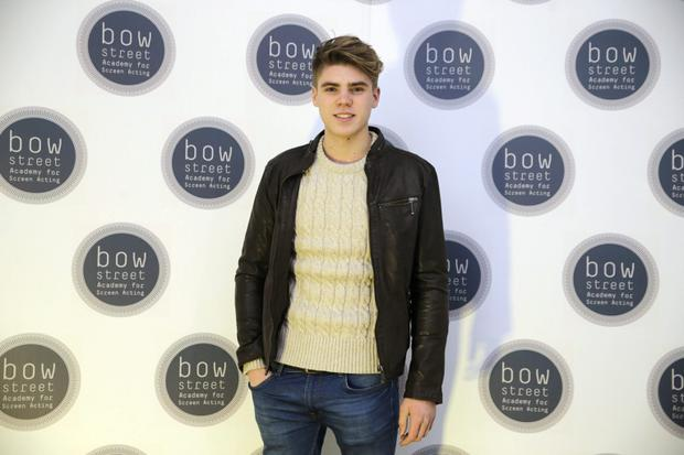 Jay Duffy (son of Keith Duffy) at the opening of the Bow Street Academy for Screen Acting, Smithfield. Picture:Arthur Carron
