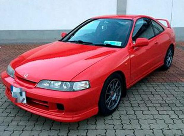Stolen: The Honda Integra that was taken at knifepoint