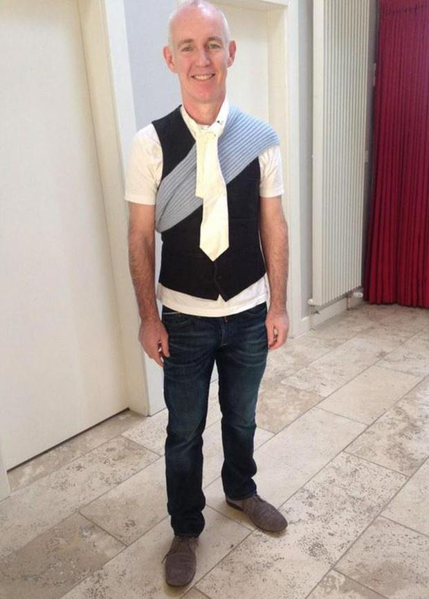 Ray D'Arcy dressed by his daughter. Picture: RTE Radio 1/Twitter