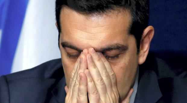 Greece's Prime Minister Alexis Tsipras addresses a news conference after a European Union leaders summit in Brussels