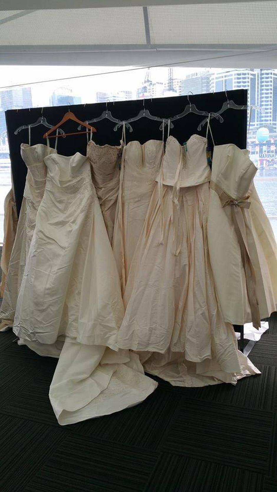 Brides are donating their wedding dresses to create tiny clothes for ...