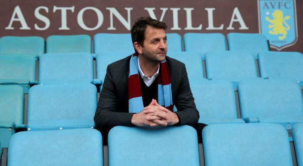 New Aston Villa manager Tim Sherwood poses after the press conference