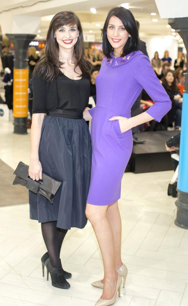 Aoibhinn Ni Shuilleabhain & Niamh O'Neill pictured at the launch of nthe Arnotts Spring / Summer 2015 collections