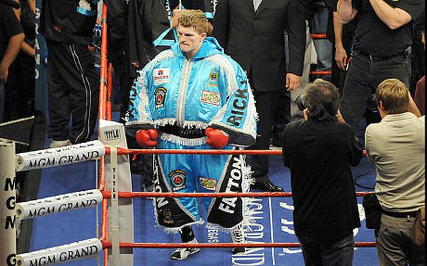 Hatton tried to make light of the 'Ricky Fatton' jibes. Source: GETTY IMAGES