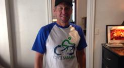 Lance Armstrong wearing Cycle Ataxia t-shirt