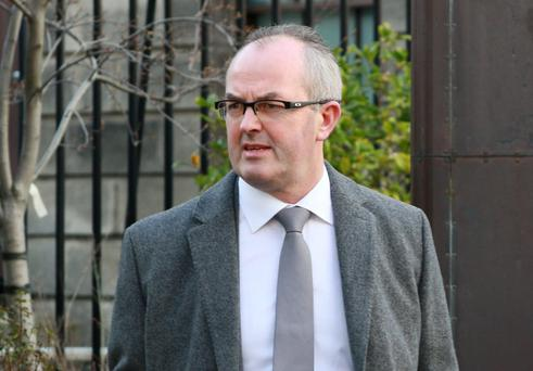 Martin Carway with an address in Kilkenny pictured leaving the Four Courts today after giving evidence in the opening day of his High Court action for damages .Pic: Courts Collins