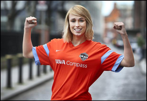 Footballer Stephanie Roche who is moving to Houston Dash. Pic by Steve Humphreys