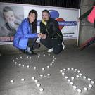 Roseann and Chris Brennan, parents of victim Jake Brennan, at the end of the protest to Jake's Legacy which took place outside Leinster House, Dublin. Pic Stephen Collins/Collins Photos