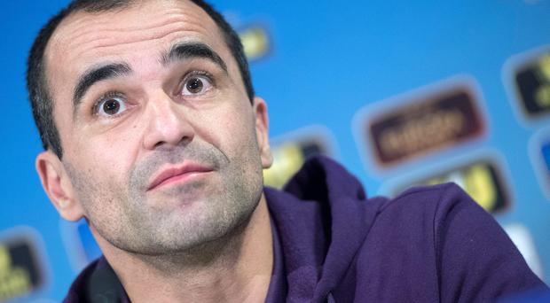 Roberto Martinez hopes continued success in Europe can help his Everton side gain some momentum in what remains of their top-flight campaign. Photo: AP Photo/Keystone,Marcel Bieri