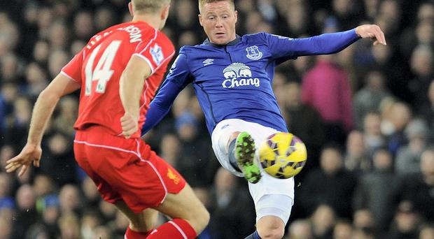 James McCarthy will be involved in Everton's Europa League encounter with Young Boys Berne as he takes the next step in his comeback following a campaign interrupted by hamstring issues. Photo: John Powell/Liverpool FC via Getty Images