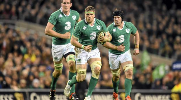 Jamie Heaslip fractured three vertebrae in Ireland's victory over France after being kneed by Pascal Pape. Photo: Stephen McCarthy / SPORTSFILE
