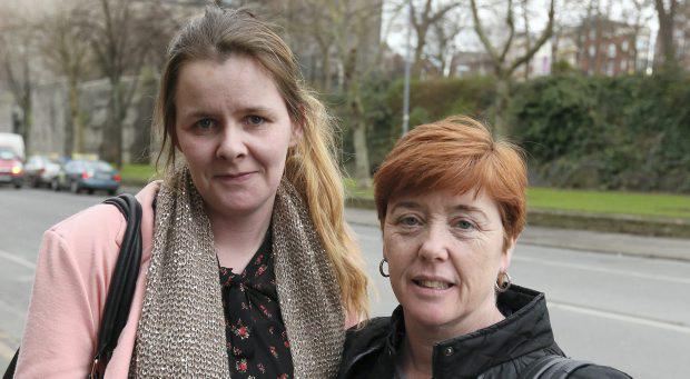 Local parents, Pearl Ryan and Sandra McDonagh pictured outside St Audeon's Park