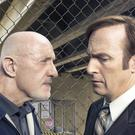 Jonathan Banks as Mike Ehrmantraut and Bob Odenkirk as Saul Goodman